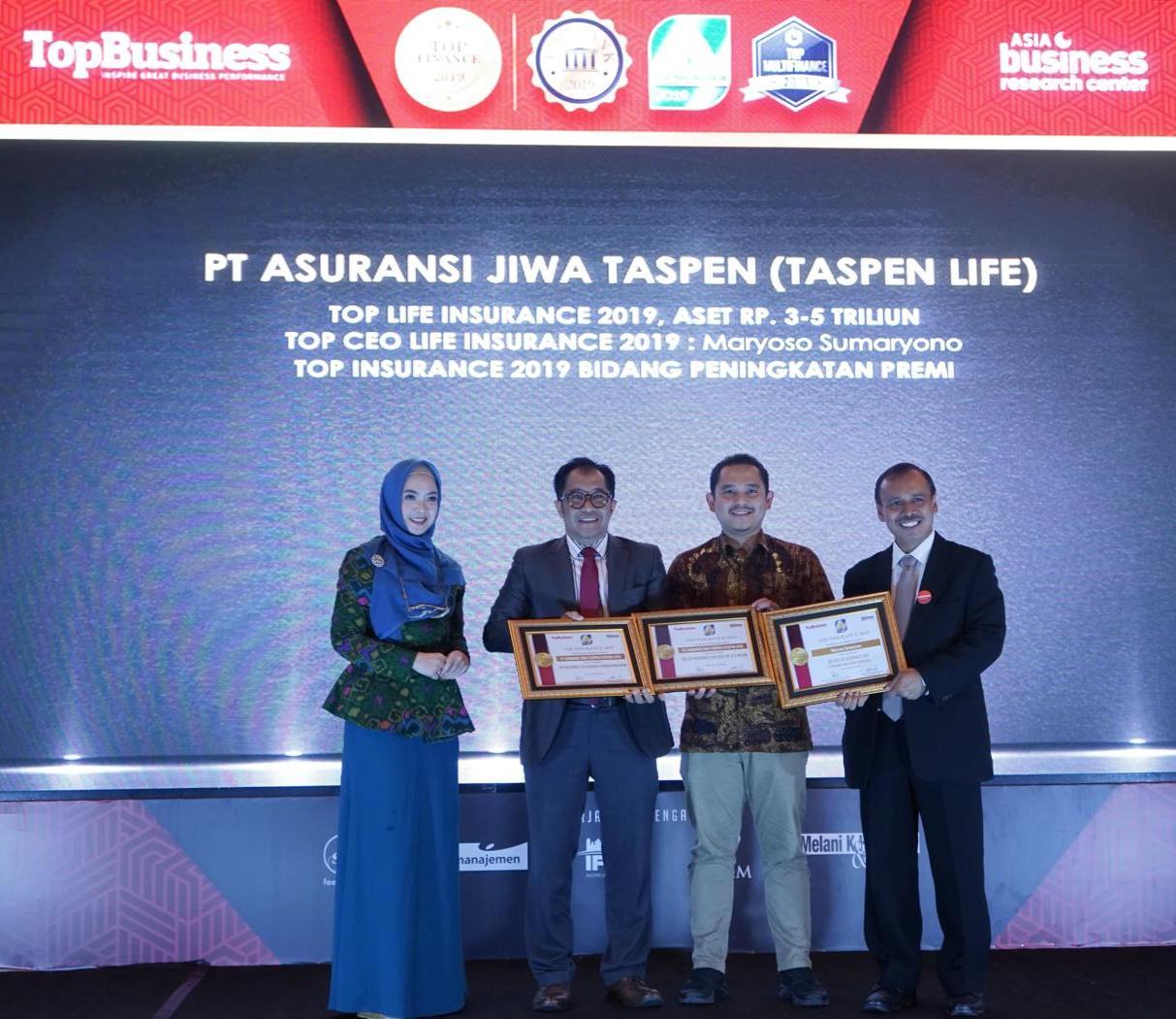 Taspen Life Berhasil Sabet Tiga Penghargaan TOP Insurance 2019