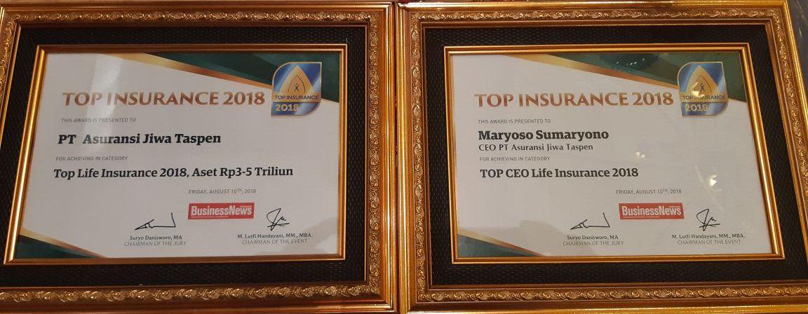Dua tahun berturut-turut Taspen Life raih TOP Insurance 2018