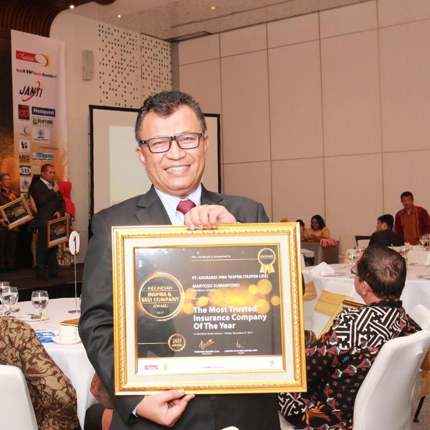 Taspen Life dalam Indonesian Inspire and Best Company Award 2017