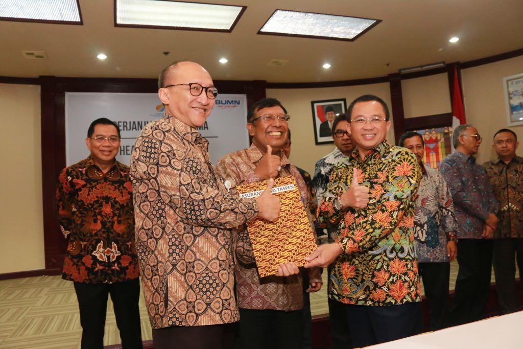 Penandatanganan Addendum PKS antara Taspen Life dan Pelindo I