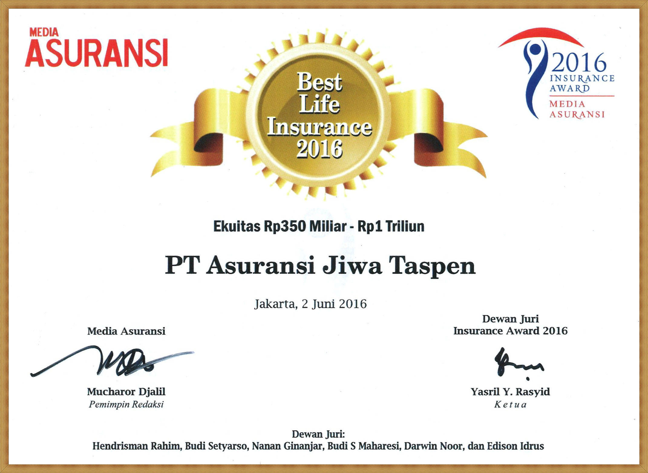 Best Life Insurance 2016