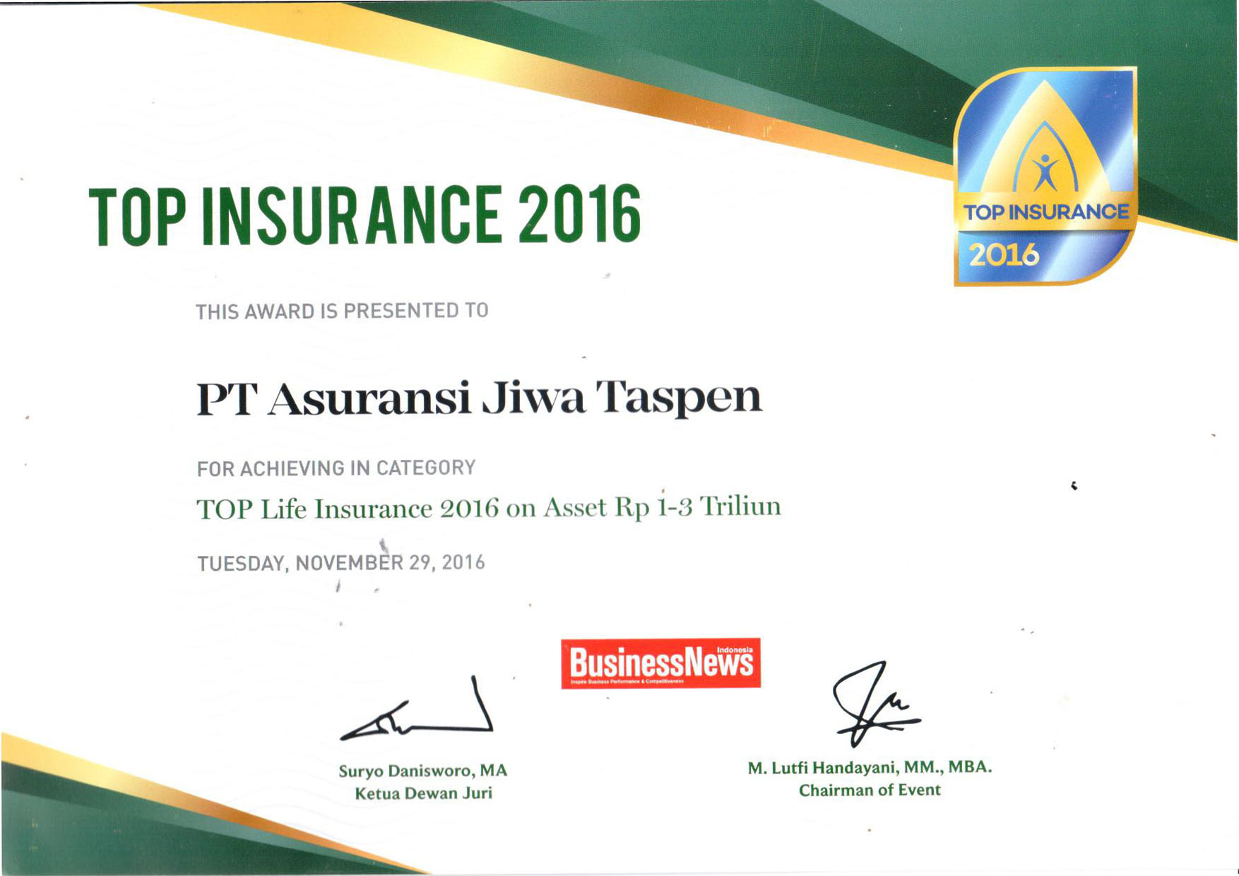 Top Life Insurance 2016