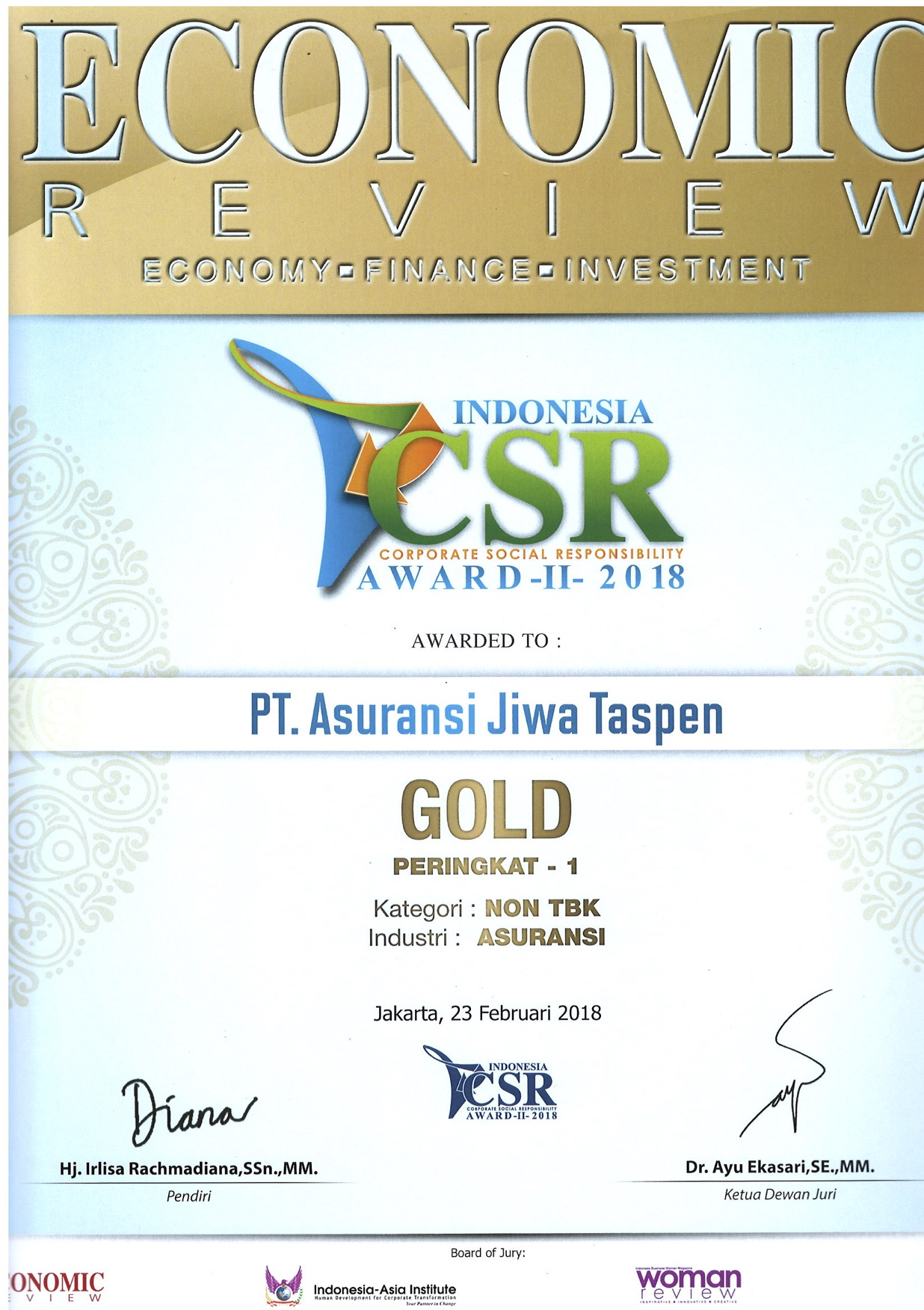 ICSR GOLD - Economic Review