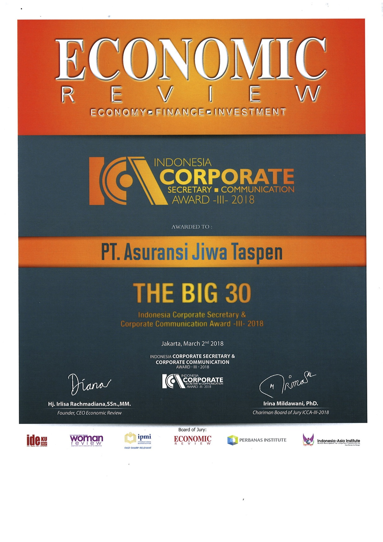ICA Top 30 - Economic Review