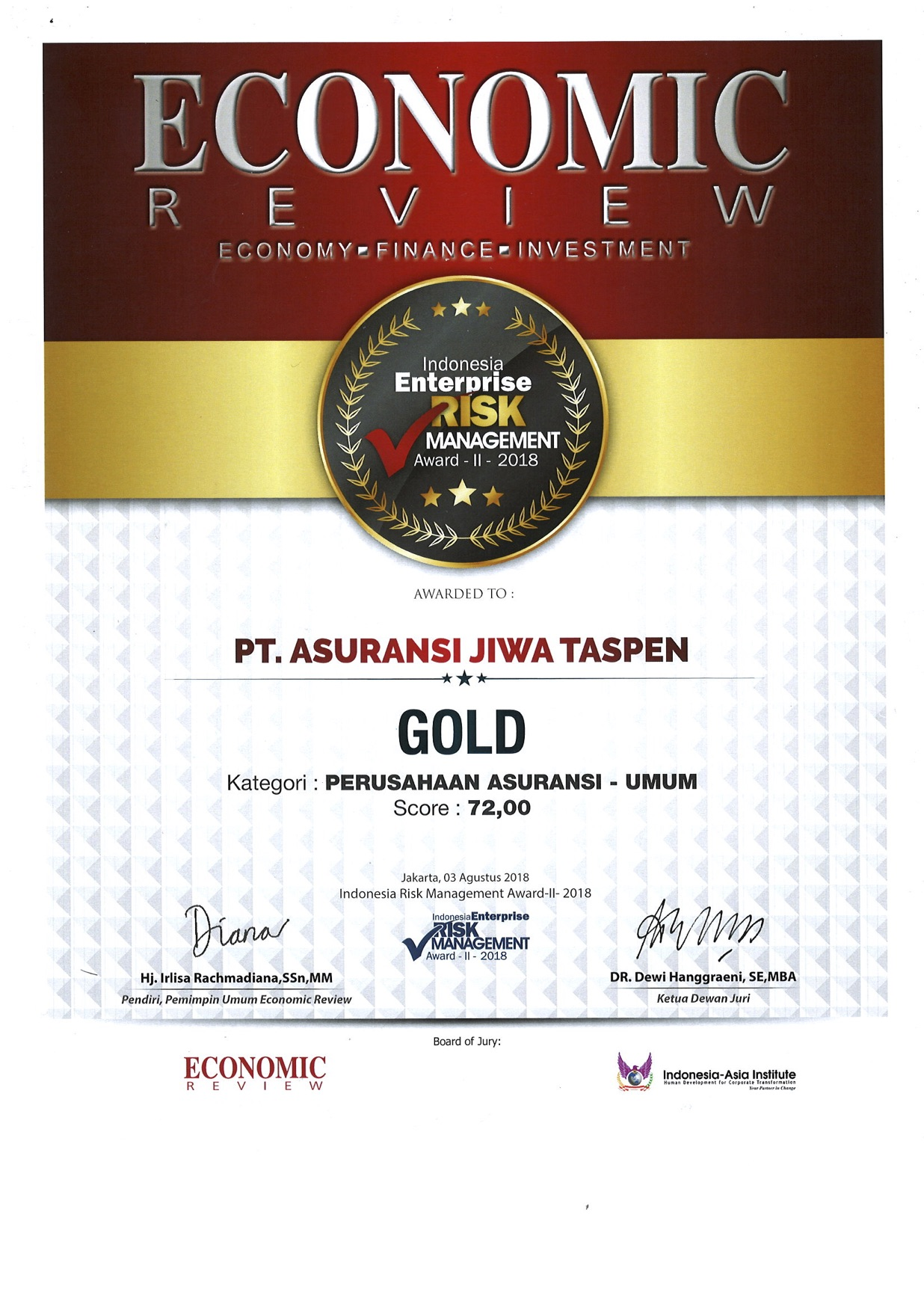 IERMA Score -Economic Review
