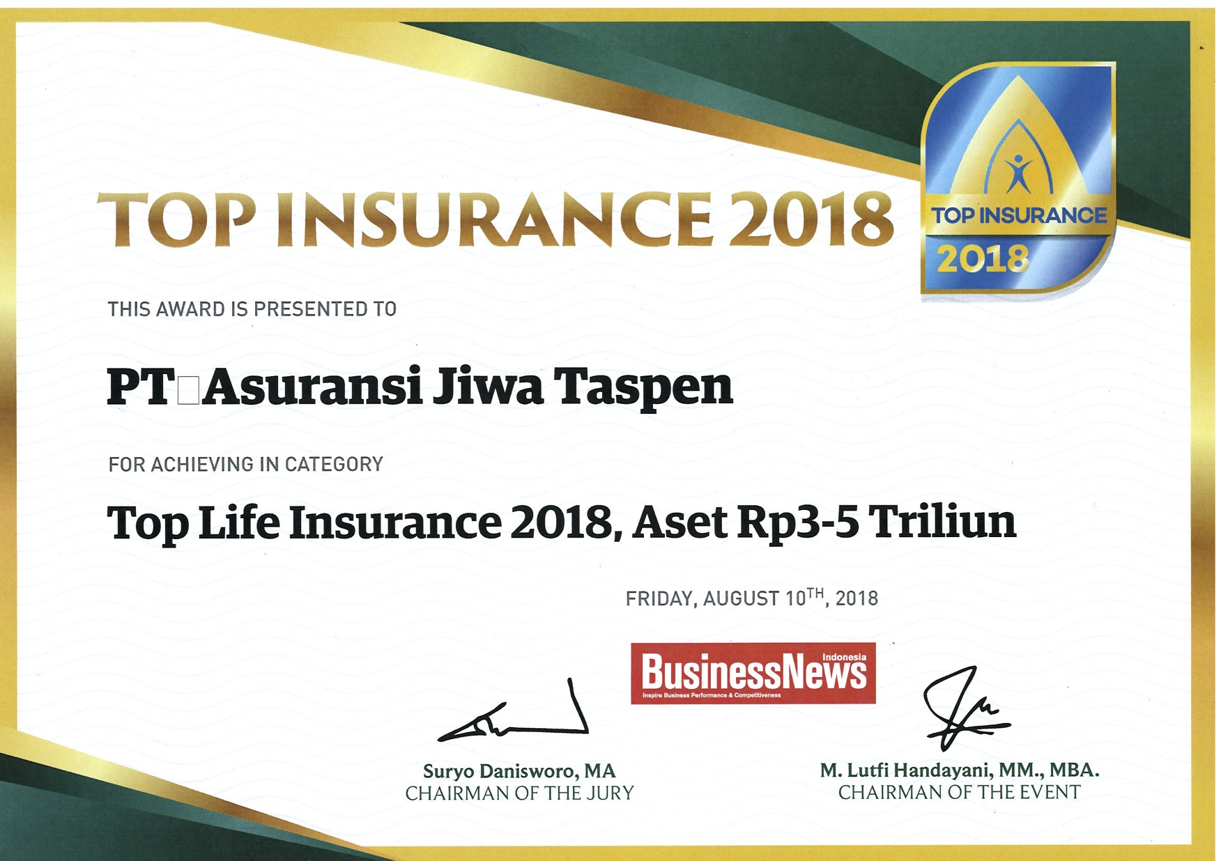 Top Life Insurance 2018 - Business Review