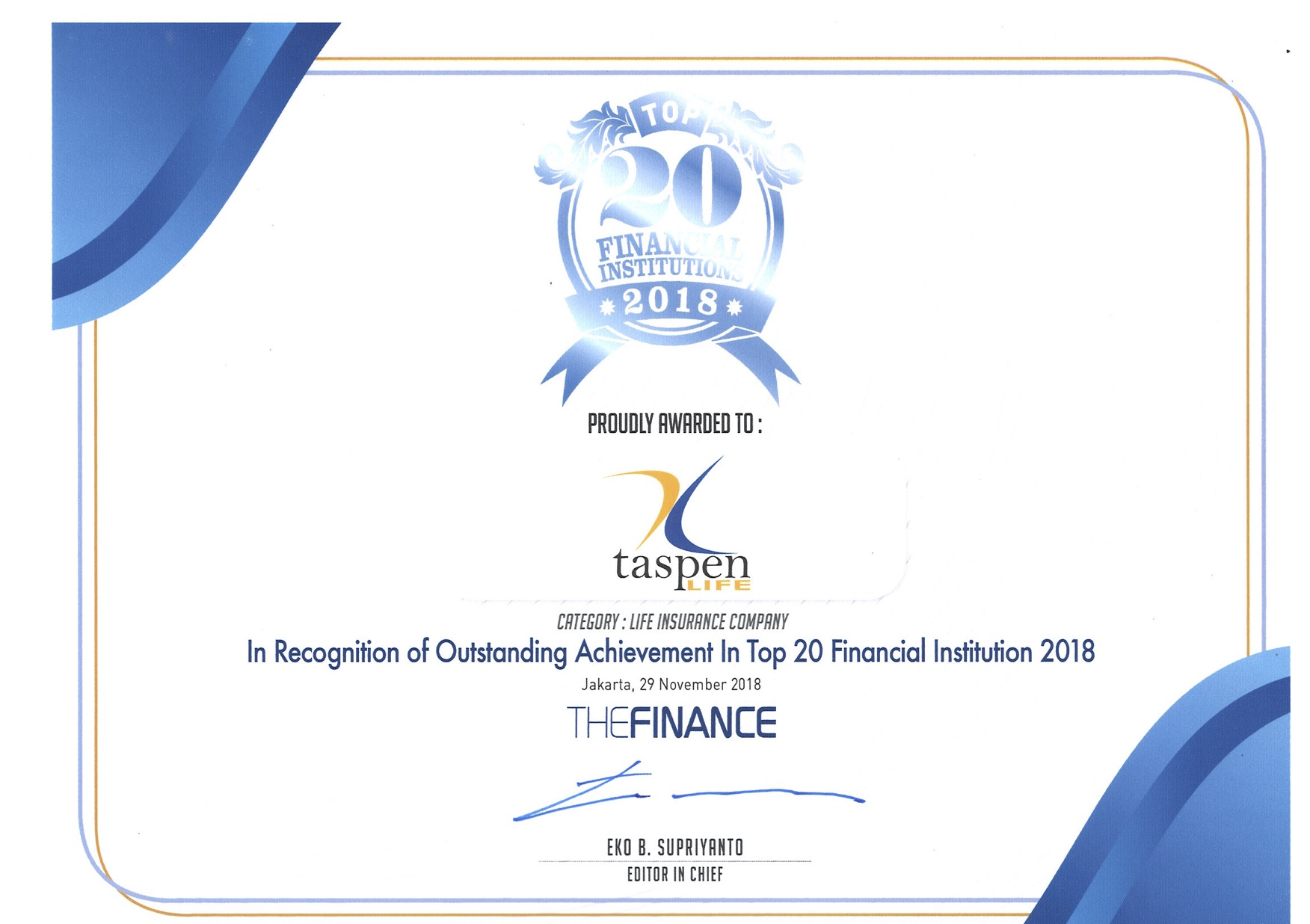 Top 20 Financial Istitution - The Finance