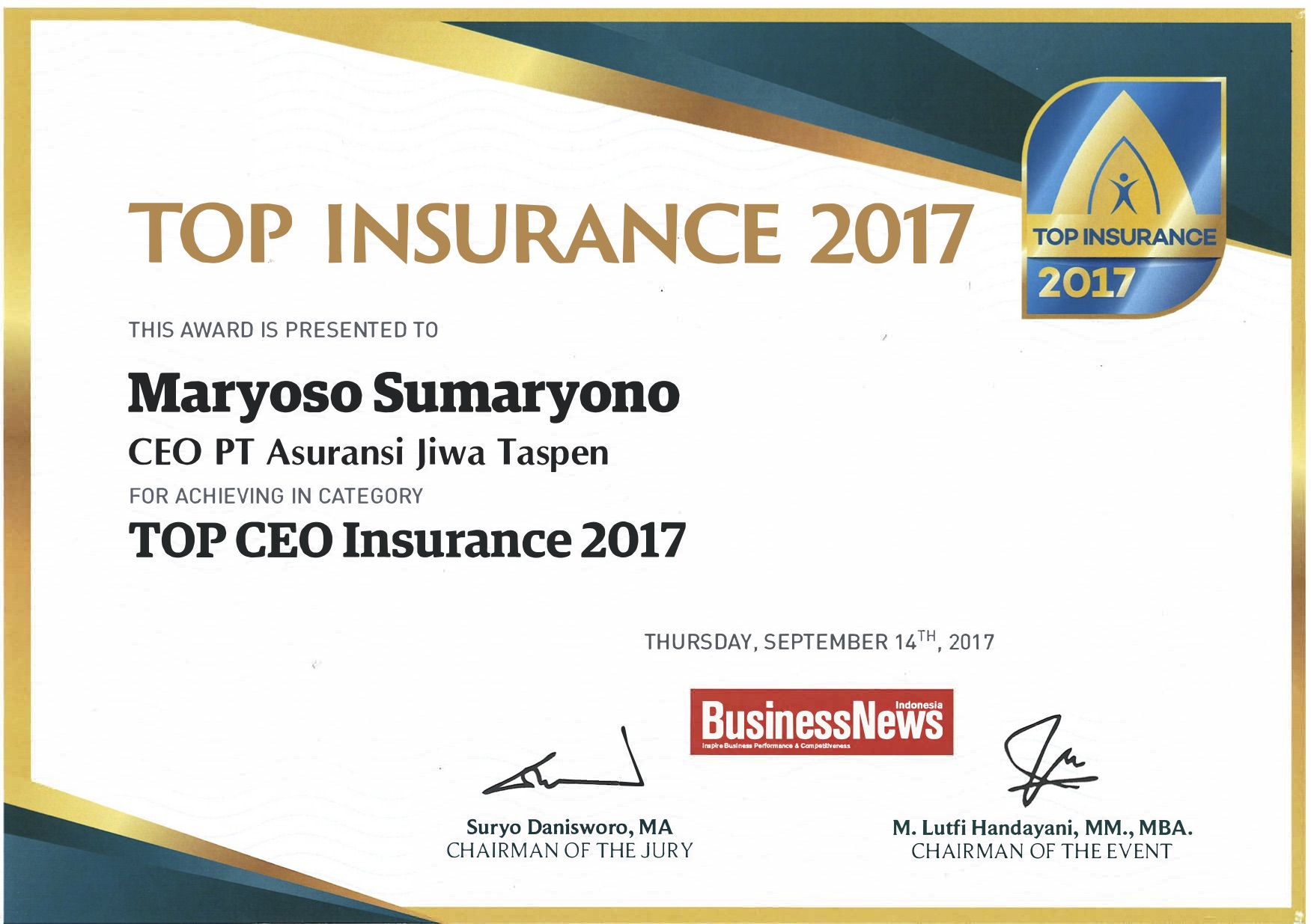 Top CEO Insurance 2017