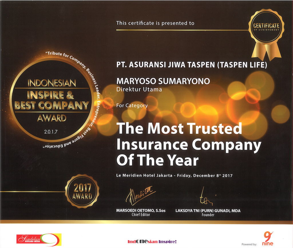 The Most Trusted Insurance Company of The Year