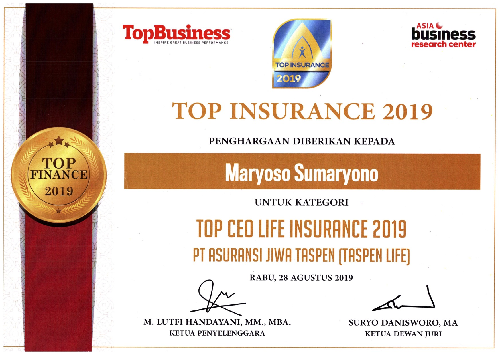Top CEO Life Insurance 2019