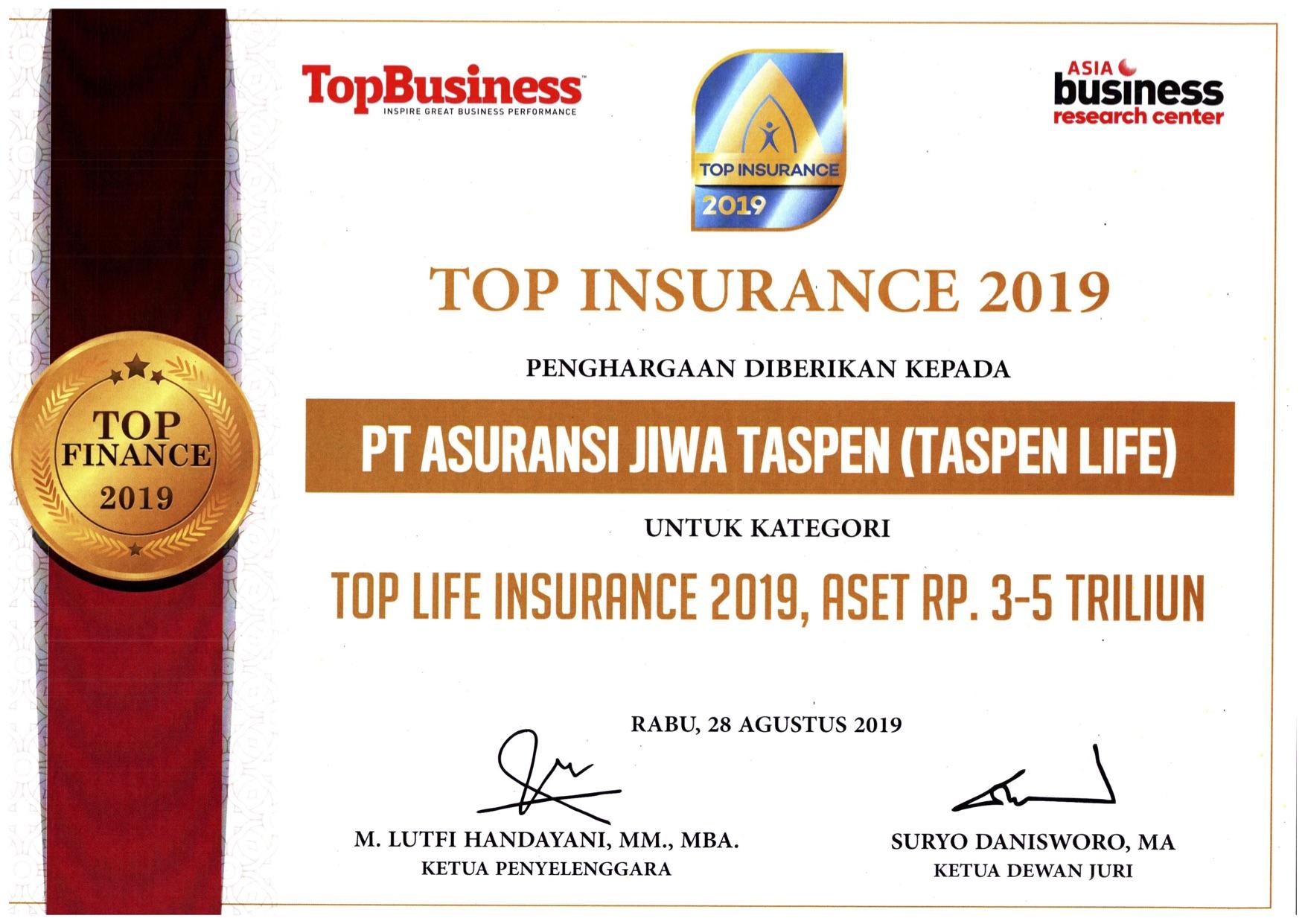 Top Life Insurance 2019 (Asset)